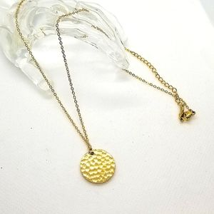 😍2/25.18k gold plated coin chain pendant necklace